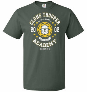 Clone Trooper Academy 02 Unisex T-Shirt - Forest Green / S - T-Shirt