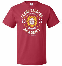 Load image into Gallery viewer, Clone Trooper Academy 02 Unisex T-Shirt - True Red / S - T-Shirt