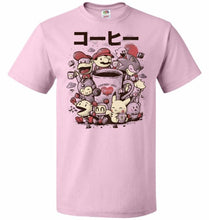 Load image into Gallery viewer, Coffee And Games Unisex T-Shirt - Classic Pink / S - T-Shirt