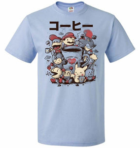 Coffee And Games Unisex T-Shirt - Light Blue / S - T-Shirt