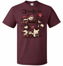 Load image into Gallery viewer, Coffee And Games Unisex T-Shirt - Maroon / S - T-Shirt