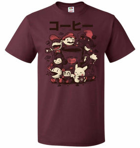 Coffee And Games Unisex T-Shirt - Maroon / S - T-Shirt