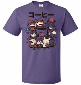 Coffee And Games Unisex T-Shirt - Purple / S - T-Shirt