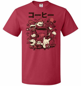Coffee And Games Unisex T-Shirt - True Red / S - T-Shirt