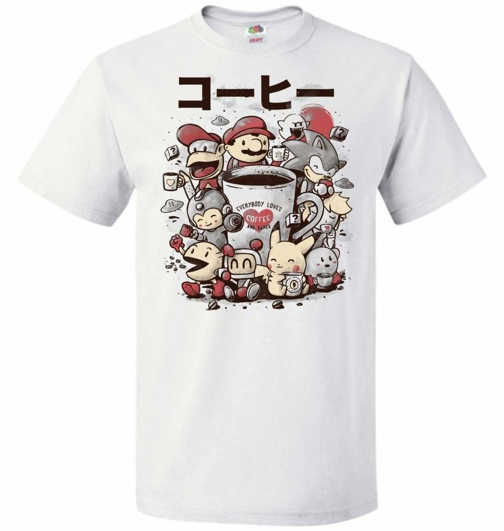 Coffee And Games Unisex T-Shirt - White / S - T-Shirt