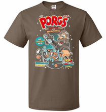 Load image into Gallery viewer, Corn Porgs Unisex T-Shirt - Chocolate / S - T-Shirt