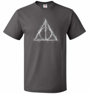 Deathly Hollows Unisex T-Shirt - Charcoal Grey / S - T-Shirt