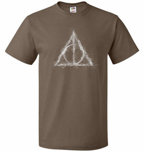 Deathly Hollows Unisex T-Shirt - Chocolate / S - T-Shirt