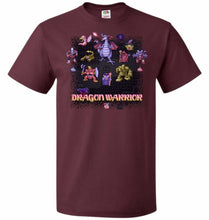 Load image into Gallery viewer, Dragon Warrior Unisex T-Shirt - Maroon / S - T-Shirt