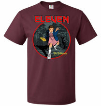 Load image into Gallery viewer, Eleven The Telekinetic Unisex T-Shirt - Maroon / S - T-Shirt