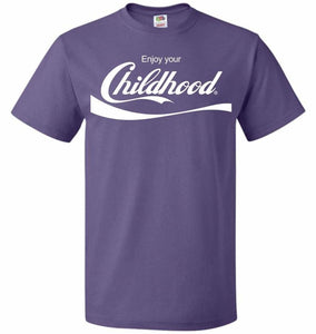 Enjoy Your Childhood Unisex T-Shirt - Purple / S - T-Shirt