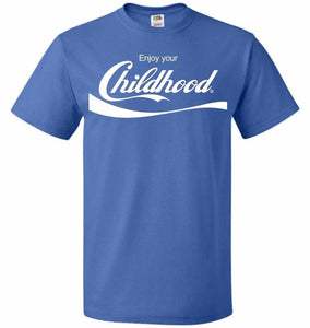 Enjoy Your Childhood Unisex T-Shirt - Royal / S - T-Shirt