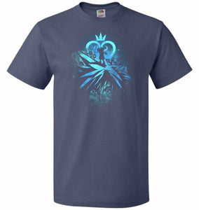 Face of The Key Blade Unisex T-Shirt - Denim / S - T-Shirt