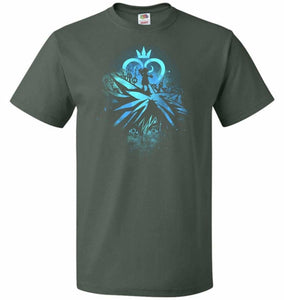 Face of The Key Blade Unisex T-Shirt - Forest Green / S - T-Shirt