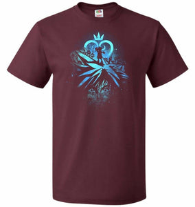 Face of The Key Blade Unisex T-Shirt - Maroon / S - T-Shirt