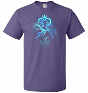 Face of The Key Blade Unisex T-Shirt - Purple / S - T-Shirt