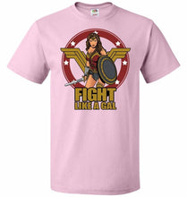 Load image into Gallery viewer, Fight Like A Gal Unisex T-Shirt - Classic Pink / S - T-Shirt