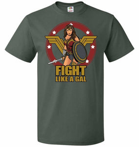 Fight Like A Gal Unisex T-Shirt - Forest Green / S - T-Shirt