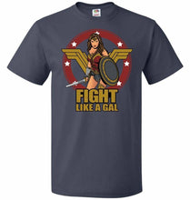 Load image into Gallery viewer, Fight Like A Gal Unisex T-Shirt - J Navy / S - T-Shirt