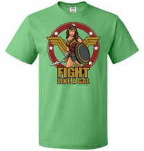 Load image into Gallery viewer, Fight Like A Gal Unisex T-Shirt - Kelly / S - T-Shirt