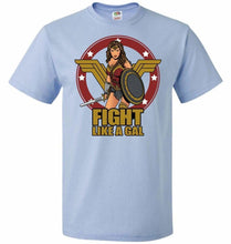 Load image into Gallery viewer, Fight Like A Gal Unisex T-Shirt - Light Blue / S - T-Shirt