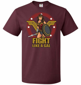 Fight Like A Gal Unisex T-Shirt - Maroon / S - T-Shirt
