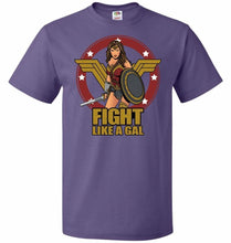 Load image into Gallery viewer, Fight Like A Gal Unisex T-Shirt - Purple / S - T-Shirt