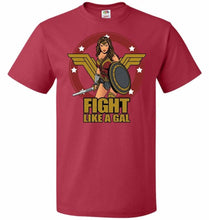 Load image into Gallery viewer, Fight Like A Gal Unisex T-Shirt - True Red / S - T-Shirt