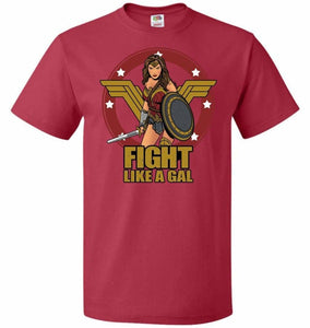Fight Like A Gal Unisex T-Shirt - True Red / S - T-Shirt