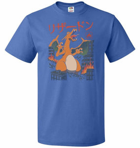 Fire Kaiju Unisex T-Shirt - Royal / S - T-Shirt