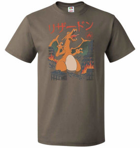 Fire Kaiju Unisex T-Shirt - Safari / S - T-Shirt