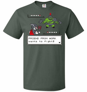 Friendly Foe Unisex T-Shirt - Forest Green / S - T-Shirt