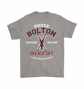 Game Of Thrones Inspired House Bolton Dreadfort Unisex T-Shirt - Gildan Mens T-Shirt / Sport Grey / S - T-Shirt