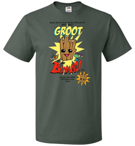 Groot from Blammo Unisex T-Shirt - Forest Green / S - T-Shirt