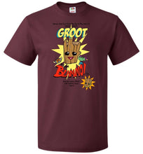 Load image into Gallery viewer, Groot from Blammo Unisex T-Shirt - Maroon / S - T-Shirt