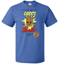 Load image into Gallery viewer, Groot from Blammo Unisex T-Shirt - Royal / S - T-Shirt