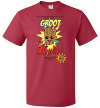 Load image into Gallery viewer, Groot from Blammo Unisex T-Shirt - True Red / S - T-Shirt