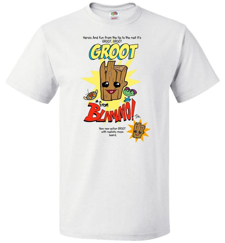 Groot from Blammo Unisex T-Shirt - White / S - T-Shirt