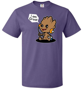 Groot Grooves Unisex T-Shirt - Purple / S - T-Shirt