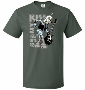 Heavy Metal Ass Unisex T-Shirt - Forest Green / S - T-Shirt
