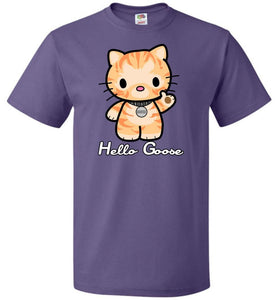 Hello Goose Unisex T-Shirt - Purple / S - T-Shirt