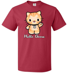 Hello Goose Unisex T-Shirt - True Red / S - T-Shirt