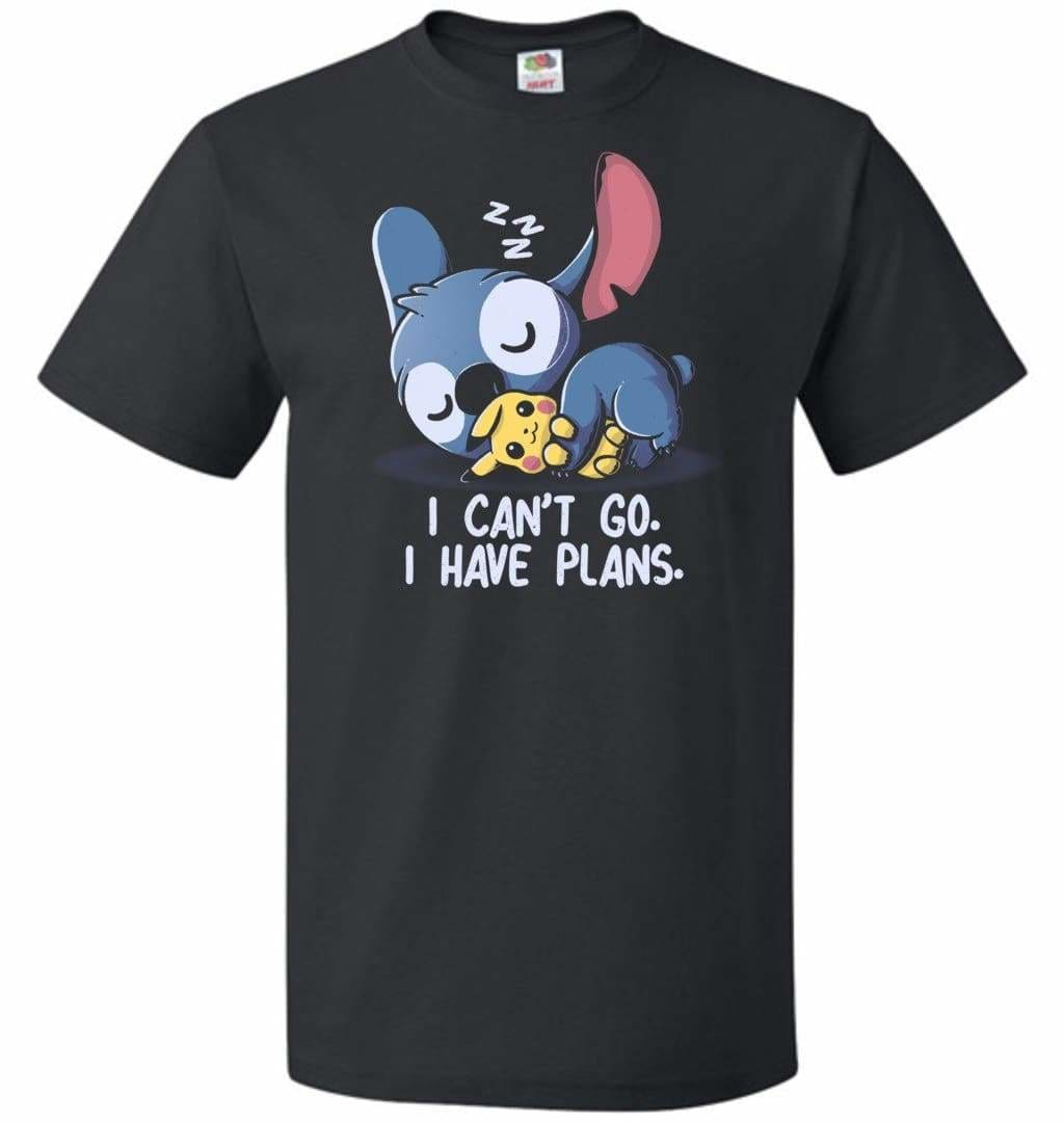 I Cant Go Stitch Unisex T-Shirt - Black / S - T-Shirt