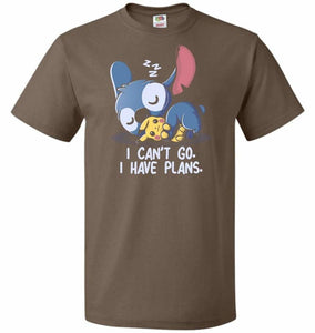 I Cant Go Stitch Unisex T-Shirt - Chocolate / S - T-Shirt