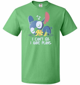 I Cant Go Stitch Unisex T-Shirt - Kelly / S - T-Shirt