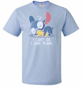 I Cant Go Stitch Unisex T-Shirt - Light Blue / S - T-Shirt