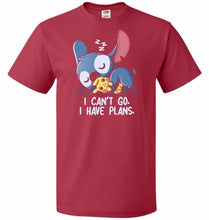 Load image into Gallery viewer, I Cant Go Stitch Unisex T-Shirt - True Red / S - T-Shirt