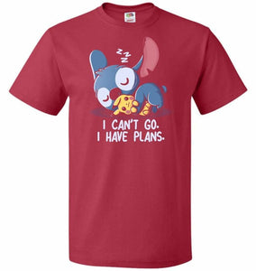 I Cant Go Stitch Unisex T-Shirt - True Red / S - T-Shirt