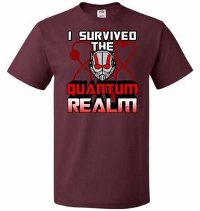 I Survived The Quantum Realm Unisex T-Shirt - Maroon / S - T-Shirt