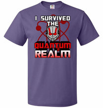 Load image into Gallery viewer, I Survived The Quantum Realm Unisex T-Shirt - Purple / S - T-Shirt
